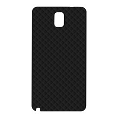 Sleek Black Stitched And Quilted Pattern Samsung Galaxy Note 3 N9005 Hardshell Back Case by PodArtist