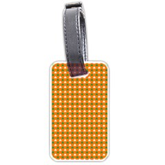 Heart-Shaped Clover Shamrock On Orange St. Patrick s Day Luggage Tags (Two Sides) by PodArtist
