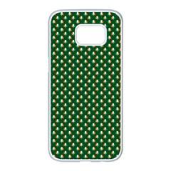 Irish Flag Green White Orange on Green St. Patrick s Day Ireland Samsung Galaxy S7 edge White Seamless Case by PodArtist