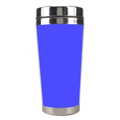 Bright Electric Fluorescent Blue Neon Stainless Steel Travel Tumblers by PodArtist
