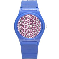 Roses Pattern Round Plastic Sport Watch (s) by Valentinaart