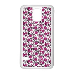 Roses Pattern Samsung Galaxy S5 Case (white) by Valentinaart