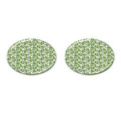 Roses Pattern Cufflinks (oval) by Valentinaart