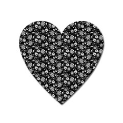 Roses Pattern Heart Magnet by Valentinaart