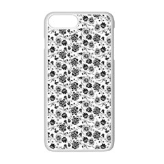 Roses pattern Apple iPhone 7 Plus White Seamless Case by Valentinaart