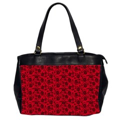 Roses Pattern Office Handbags (2 Sides)  by Valentinaart