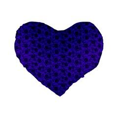 Roses Pattern Standard 16  Premium Flano Heart Shape Cushions by Valentinaart