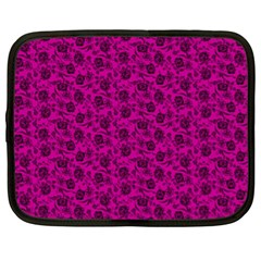 Roses Pattern Netbook Case (xl)  by Valentinaart