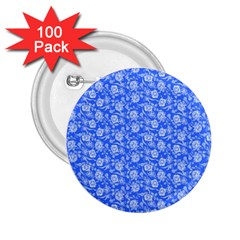 Roses Pattern 2 25  Buttons (100 Pack)  by Valentinaart