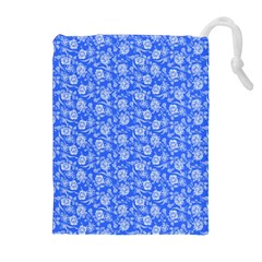 Roses Pattern Drawstring Pouches (extra Large) by Valentinaart