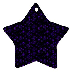 Roses Pattern Star Ornament (two Sides) by Valentinaart