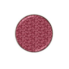 Roses Pattern Hat Clip Ball Marker by Valentinaart