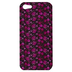 Roses Pattern Apple Iphone 5 Hardshell Case by Valentinaart