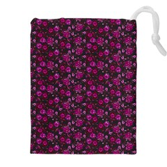 Roses Pattern Drawstring Pouches (xxl) by Valentinaart