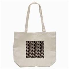 Roses Pattern Tote Bag (cream) by Valentinaart