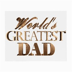 World s Greatest Dad Gold Look Text Elegant Typography Small Glasses Cloth by yoursparklingshop