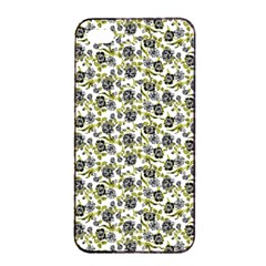 Roses Pattern Apple Iphone 4/4s Seamless Case (black) by Valentinaart