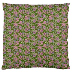 Roses Pattern Large Flano Cushion Case (two Sides) by Valentinaart