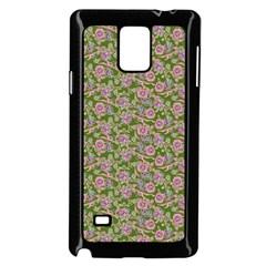 Roses Pattern Samsung Galaxy Note 4 Case (black) by Valentinaart