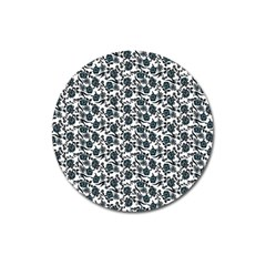 Roses Pattern Magnet 3  (round) by Valentinaart