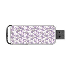 Roses Pattern Portable Usb Flash (two Sides) by Valentinaart