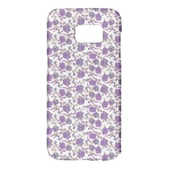 Roses pattern Samsung Galaxy S7 Edge Hardshell Case by Valentinaart