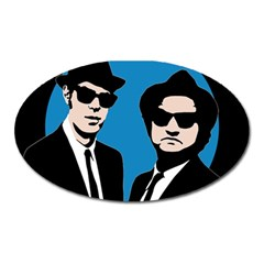 Blues Brothers  Oval Magnet by Valentinaart
