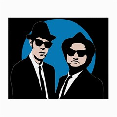 Blues Brothers  Small Glasses Cloth (2 Side) by Valentinaart