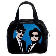 Blues Brothers  Classic Handbags (2 Sides) by Valentinaart