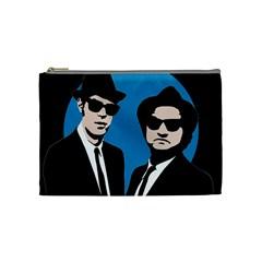 Blues Brothers  Cosmetic Bag (medium)  by Valentinaart