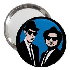 Blues Brothers  3  Handbag Mirrors by Valentinaart