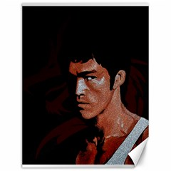 Bruce Lee Canvas 12  X 16   by Valentinaart