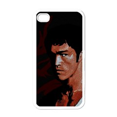 Bruce Lee Apple Iphone 4 Case (white) by Valentinaart