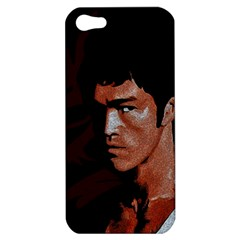 Bruce Lee Apple Iphone 5 Hardshell Case by Valentinaart
