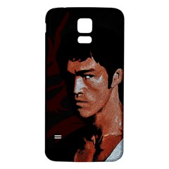 Bruce Lee Samsung Galaxy S5 Back Case (white) by Valentinaart