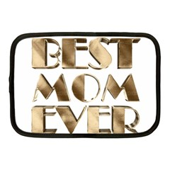 Best Mom Ever Gold Look Elegant Typography Netbook Case (medium)  by yoursparklingshop