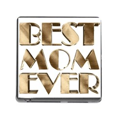 Best Mom Ever Gold Look Elegant Typography Memory Card Reader (square) by yoursparklingshop