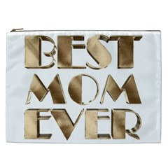 Best Mom Ever Gold Look Elegant Typography Cosmetic Bag (xxl)  by yoursparklingshop