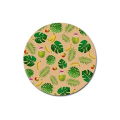 Tropical Pattern Magnet 3  (round) by Valentinaart