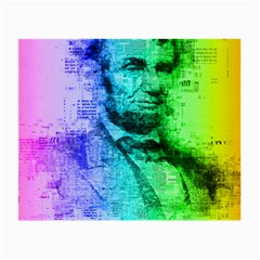 Abraham Lincoln Portrait Rainbow Colors Typography Small Glasses Cloth by yoursparklingshop