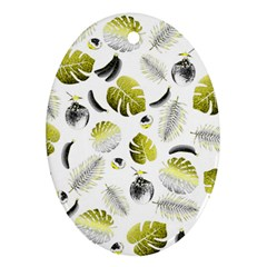 Tropical Pattern Ornament (oval) by Valentinaart