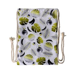 Tropical Pattern Drawstring Bag (small) by Valentinaart