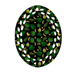 Tropical Pattern Ornament (oval Filigree) by Valentinaart