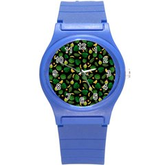 Tropical Pattern Round Plastic Sport Watch (s) by Valentinaart