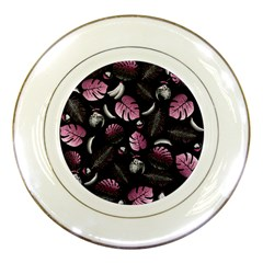 Tropical Pattern Porcelain Plates by Valentinaart