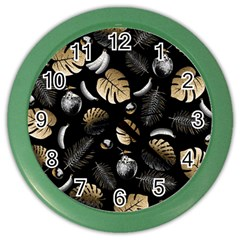 Tropical Pattern Color Wall Clocks by Valentinaart