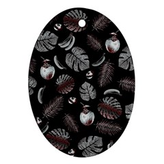 Tropical Pattern Oval Ornament (two Sides) by Valentinaart