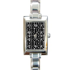 Fish Pattern Rectangle Italian Charm Watch by ValentinaDesign