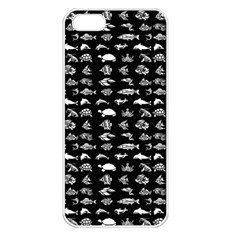 Fish Pattern Apple Iphone 5 Seamless Case (white) by ValentinaDesign