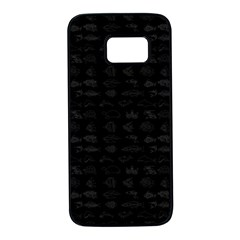 Fish Pattern Samsung Galaxy S7 Black Seamless Case by ValentinaDesign